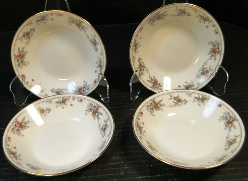 """Noritake Legendary Secret Love Berry Bowls 3481 5 1/2"""" Set of 4   DR Vintage Dinnerware and Replacements"""