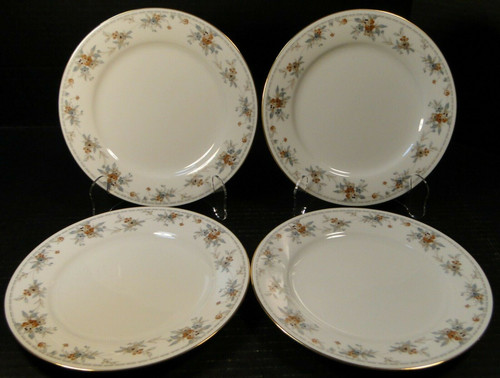 "Noritake Legendary Secret Love Salad Plates 3481 8 1/4"" Set of 4 Excellent"
