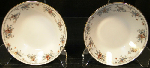 "Noritake Legendary Secret Love Berry Bowls 3481 5 1/2"" Set of 2 Excellent"