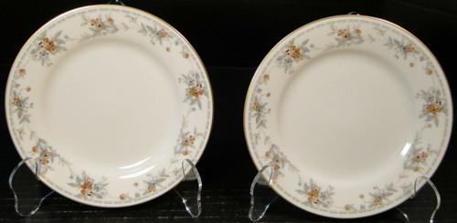 "Noritake Legendary Secret Love Bread Plates 3481 6 1/4"" Set of 2 Excellent"
