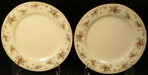 "Noritake Legendary Secret Love Salad Plates 3481 8 1/4"" Set of 2 Excellent"