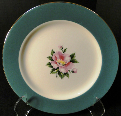 "Homer Laughlin International China Empire Green Dessert Plate 7 1/4"" Excellent"