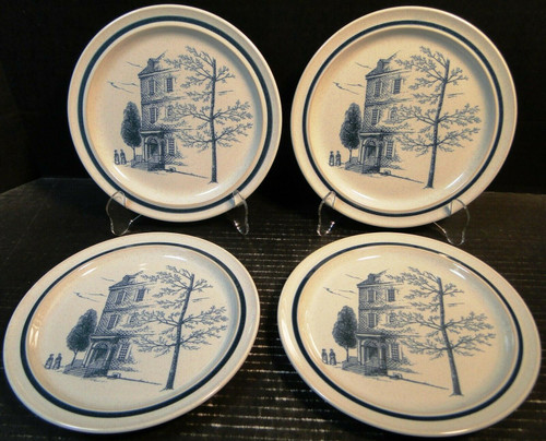 """Noritake Colonial Times Salad Plates 8 1/4"""" 8340 Set of 4 Excellent"""