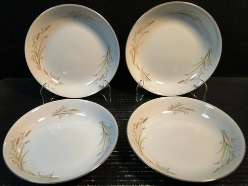 """Fine China Japan Golden Harvest Soup Bowls 7 1/2"""" Salad Set of 4 Excellent"""