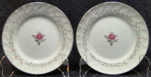 Fine China of Japan Royal Swirl Bread Plates (Set of 2) | DR Vintage Dinnerware Replacements