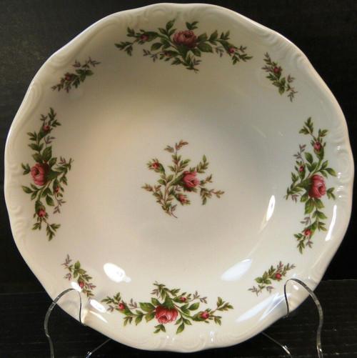 "Johann Haviland Bavaria Moss Rose Soup Bowl 7 1/2"" Salad Excellent"