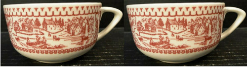 Royal China Memory Lane Pink Cups Frontier Settlement Ironstone Set 2 Excellent