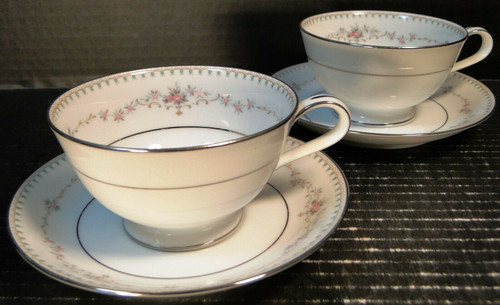 Noritake Fairmont Tea Cups Saucers 6102 Set of 2 | DR Vintage Dinnerware and Replacements