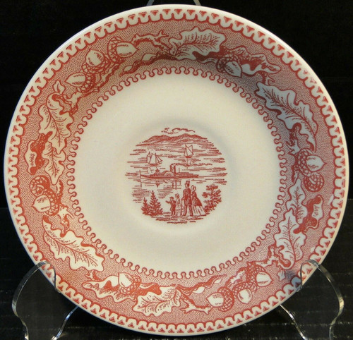 Royal China Memory Lane Pink Saucer NY Harbor View Ironstone Excellent