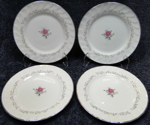 "Fine China of Japan Royal Swirl Bread Plates 6 3/8"" Set of 4 