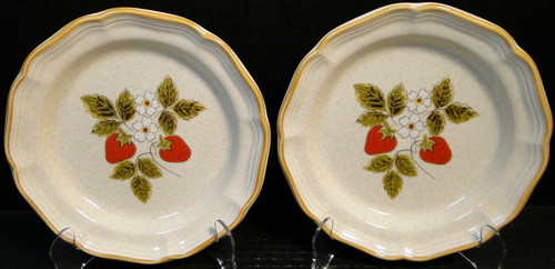 """Mikasa Strawberry Festival Salad Plates 8"""" EB 801 Set of 2 