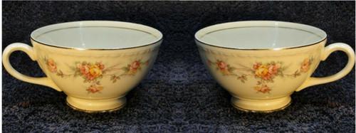 Homer Laughlin Eggshell Georgian Countess Tea Cups Set of 2 Excellent