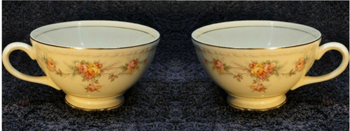 Homer Laughlin Eggshell Georgian Countess Tea Cups Set of 2 | DR Vintage Dinnerware and Replacements