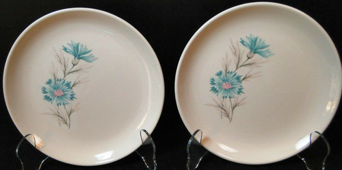 """Taylor Smith Taylor Boutonniere Bread Plates 6 3/4"""" Ever Yours Set 2 