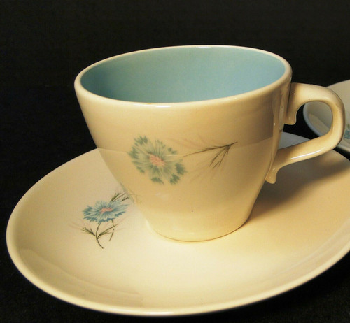 Taylor Smith Taylor Boutonniere Cup Saucer Set Ever Yours Mid Century Excellent