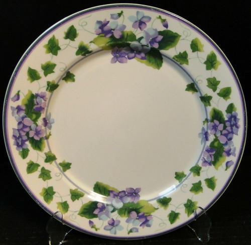 "Waverly Sweet Violet Dinner Plate 10 3/4"" Garden Room Purple Excellent"