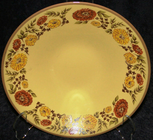 "Taylor Smith Taylor Indian Summer Large Serving Bowl 10"" Yellow Excellent"