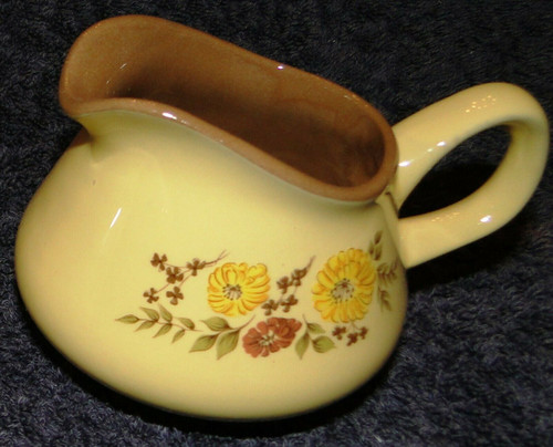 Taylor Smith Taylor Indian Summer Creamer Yellow Brown Flowers | DR Vintage Dinnerware and Replacements