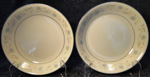 "Fine China of Japan English Garden Soup Bowls Coupe 7 1/2"" 1221 Set 2 