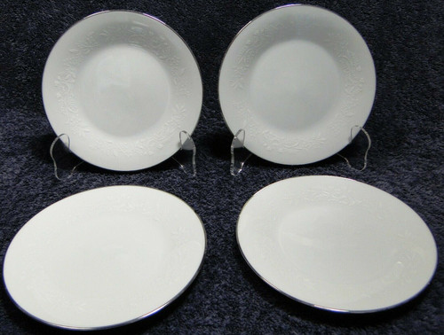 """Noritake Reina Salad Plates 6450 Q 8 1/4"""" Set of 4 