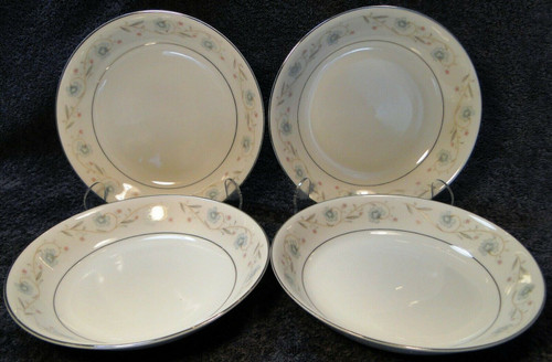 "Fine China of Japan English Garden Soup Bowls Coupe 7 1/2"" 1221 Set 4 