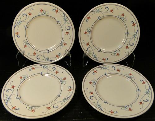 "Mikasa Annette Intaglio Saucers Bread Plates 6 1/2"" CAC20 Set 4 Excellent"