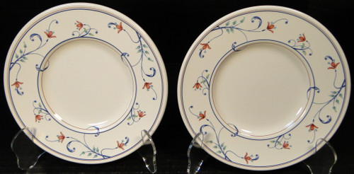 "Mikasa Annette Intaglio Saucers Bread Plates 6 1/2"" CAC20 Set 2 