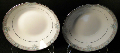 "Noritake Lunceford Soup Bowls 3884 7 3/4"" Legendary Set of 2 