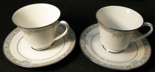 Noritake Lunceford Tea Cup Saucer Sets 3884 Legendary 2 | DR Vintage Dinnerware and Replacements