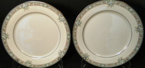 "Noritake Lunceford Dinner Plates 3884 10 1/2"" Legendary Set of 2 Excellent"