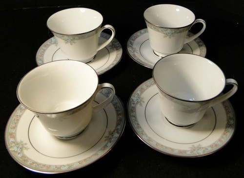 Noritake Lunceford Tea Cup Saucer Sets 3884 Legendary 4 | DR Vintage Dinnerware and Replacements