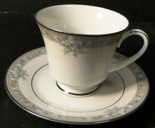 Noritake Lunceford Tea Cup Saucer Set 3884 Legendary   DR Vintage Dinnerware and Replacements