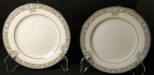 """Noritake Lunceford Salad Plates 3884 8 1/4"""" Legendary Set of 2 Excellent"""