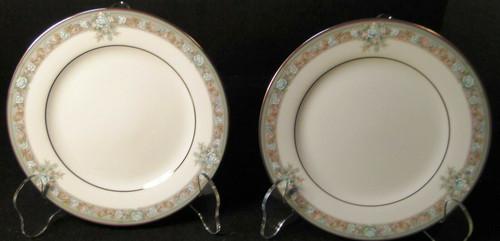 "Noritake Lunceford Bread Plates 3884 6 1/2"" Legendary Set of 2 Excellent"