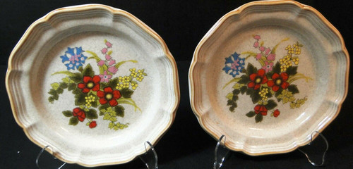 "Mikasa Basket of Wildflowers Salad Plates 8"" EC 403 Set of 2 