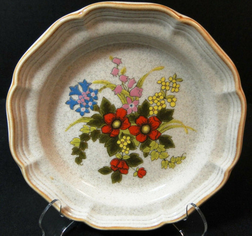 """Mikasa Basket of Wildflowers Salad Plate 8"""" EC 403 