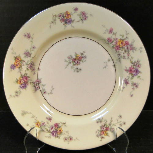 Theodore Haviland NY Gloria Salad Plate 8 1/4 Yellow Pink Roses Excellent
