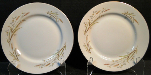 "Fine China Japan Golden Harvest Salad Dessert Plates 7 1/2"" Set of 2 