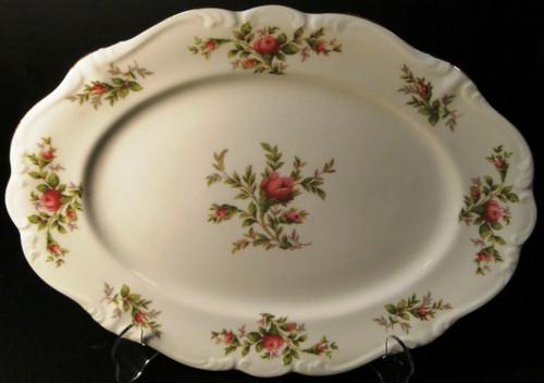 "Johann Haviland Bavaria Moss Rose Oval Serving Platter 13"" | DR Vintage Dinnerware and Replacements"