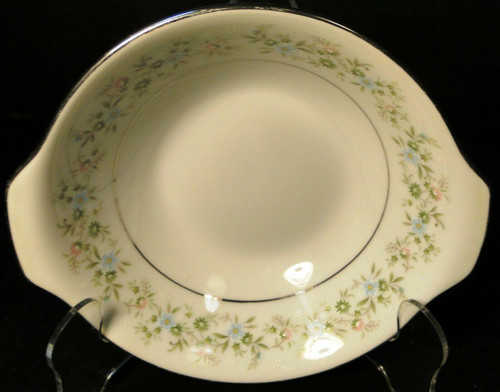 "Noritake Savannah Lugged Cereal Bowl 6 1/2"" 2031 Green Floral Excellent"