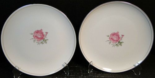 "Fine China of Japan Imperial Rose Dinner Plates 10 1/4"" Set of 2 
