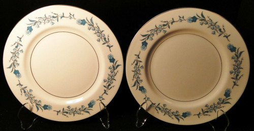 """Theodore Haviland NY Clinton Bread Plates 6 /2"""" Blue Flowers Set of 2 Excellent"""