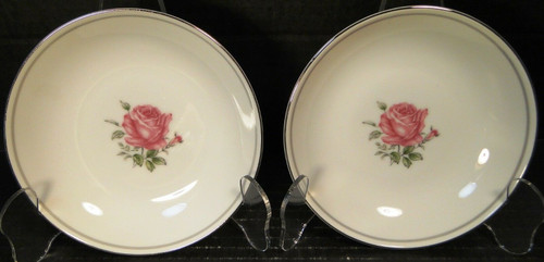 Fine China of Japan Imperial Rose Berry Bowls Fruit Set of 2 | DR Vintage Dinnerware Replacements