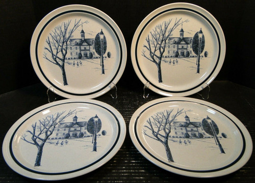 """Noritake Colonial Times Dinner Plates 10 5/8"""" 8340 Set of 4 Excellent"""