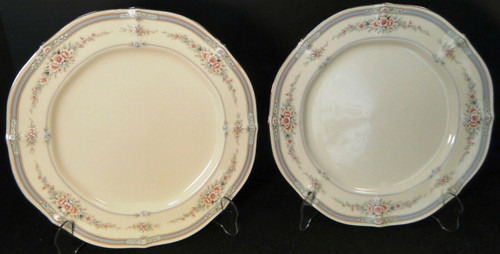"Noritake Rothschild Dinner Plates 7293 10 1/2"" Ivory China Set of 2 