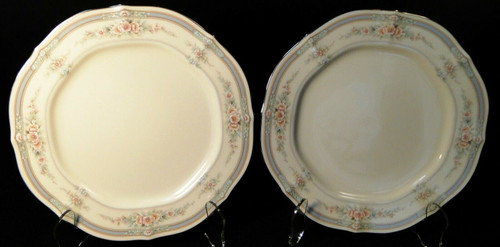 "Noritake Rothschild Salad Plates 8 1/4 "" 7293 Ivory China Set of 2 
