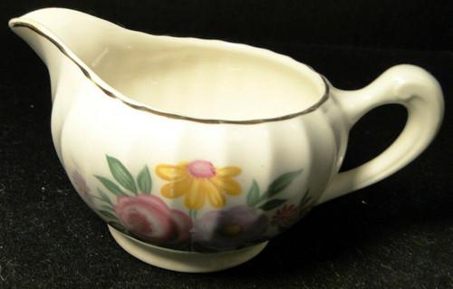 W S George Bolero Romance Creamer Pink Purple | DR Vintage Dinnerware and Replacements