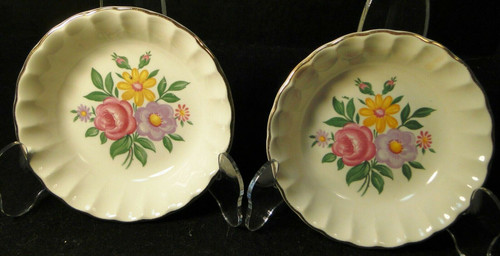 """W S George Bolero Romance Berry Bowls 5"""" Pink Purple Fruit Set of 2 