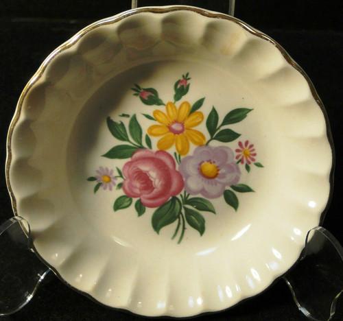 "W S George Bolero Romance Berry Bowl 5"" Pink Purple Fruit Dessert | DR Vintage Dinnerware and Replacements"
