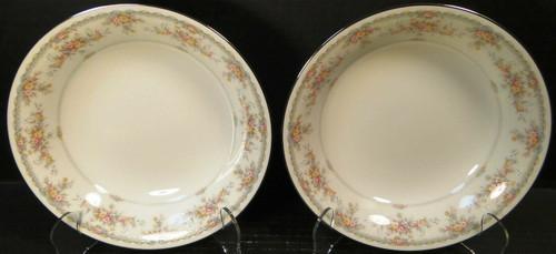 "Noritake Veranda Soup Bowls 7 5/8"" 3015 Set of 2 Excellent"
